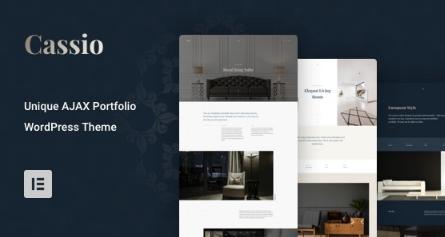 Cassio v2.0.4 – AJAX Portfolio WordPress Theme