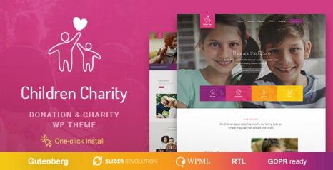 Children Charity v1.1.1 – Nonprofit & NGO WordPress Theme with Donations