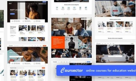 Coursector v1.3.1   LMS Education WordPress Nulled