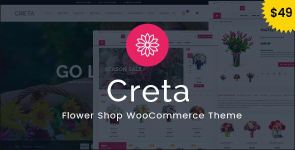 Creta v5.2 – Flower Shop WooCommerce WordPress Theme