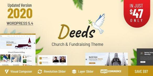 Deeds v8.1 – Best Responsive Nonprofit Church WordPress Theme