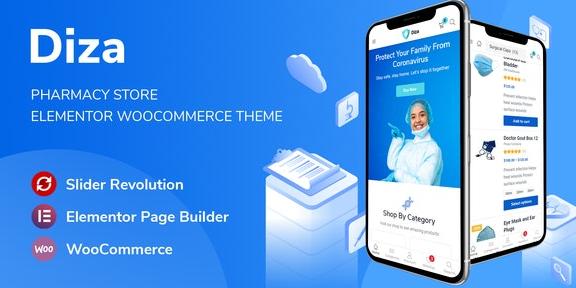 Diza v1.1.2 – Pharmacy Store Elementor WooCommerce Theme