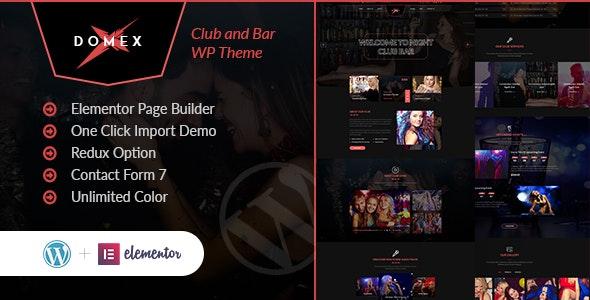 Domex v1.0 – Night Club WordPress Theme