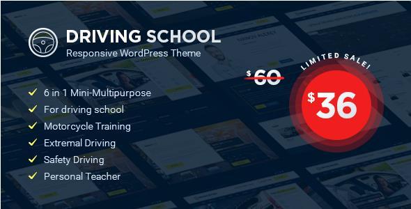 Driving School v1.4.3 – WordPress Theme