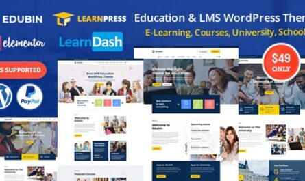 Edubin v3.0.8 – Education LMS WordPress Theme