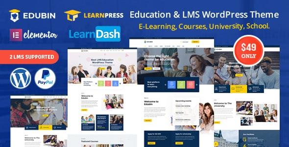 Edubin v5.0.3 – Education LMS WordPress Theme