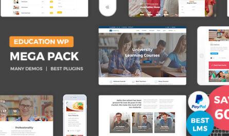 Education Pack v1.3 – Education Learning Theme WP (17 June 2019)