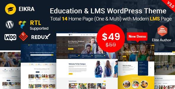 Eikra Education v3.6 – Education WordPress Theme