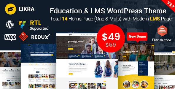 Eikra Education v3.7 – Education WordPress Theme