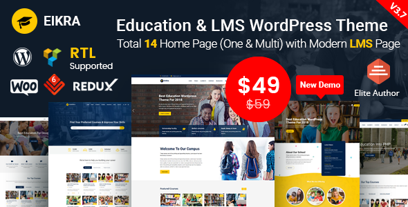 Eikra Education v3.8 – Education WordPress Theme