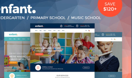 Enfant v3.1.4 – School and Kindergarten WordPress Theme