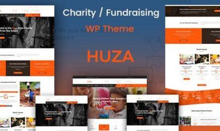Huza v1.19 – Charity/Fundraising Responsive WordPress Theme
