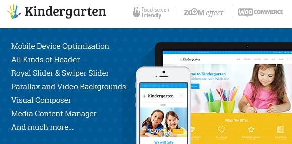 Kindergarten v3.8   Day Care & Children School Education WordPress Theme