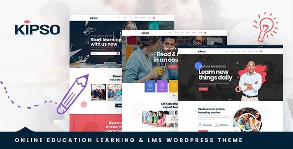 Kipso v1.0.0 – Education LMS WordPress Theme