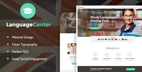Language Center & Online School Education v1.2 – WordPress Theme