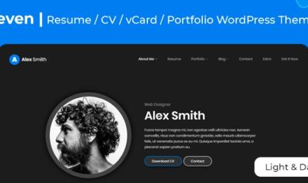 Leven v1.5.3 | CV/Resume WordPress Theme
