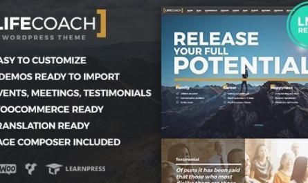 Life Coach WordPress Theme v2.2.6