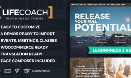 Life Coach v2.2.5 – WordPress Theme