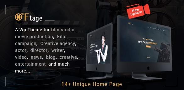 Movie Production, Film studio, Creative & Entertainment WordPress Theme v3.0