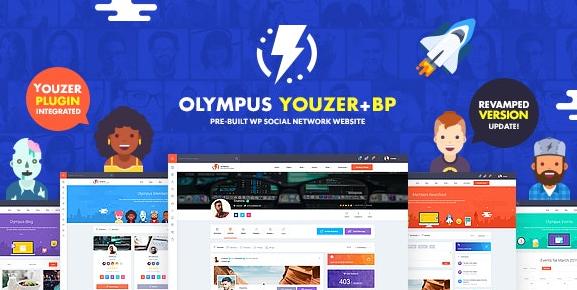 Olympus v3.6 – Powerful BuddyPress Theme for Social Networking