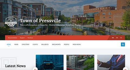 Pressville v2.5.0 – Unique WordPress Theme for Municipalities