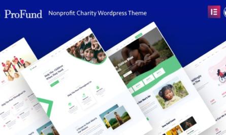ProFund v3.1.0 – Nonprofit Charity WordPress Theme