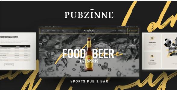 Pubzinne – Sports Bar WordPress Theme v1.0