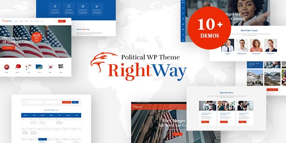 Right Way v4.0 | Election Campaign and Political Candidate WordPress Theme
