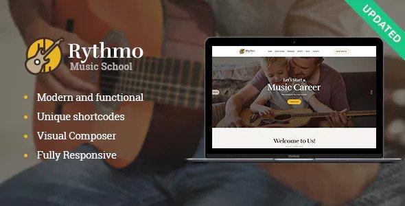 Rythmo v1.1.0 – Music School WordPress Theme