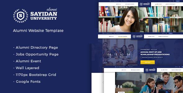 Sayidan v1.6.5 – University Alumni WP theme