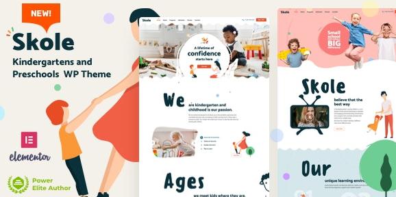 Skole v2.3 – School Kindergarten WordPress Elementor