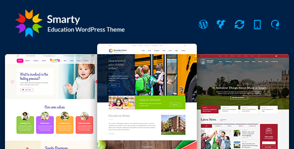 Smarty v3.3 – Education WordPress Theme for Kindergarten