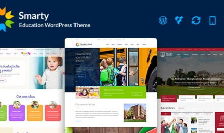 Smarty v3.4.2 – Kindergarten, School, High school, College, University WordPress theme