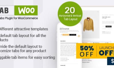 TabWoo v1.0.5 – Custom Product Tabs for WooCommerce