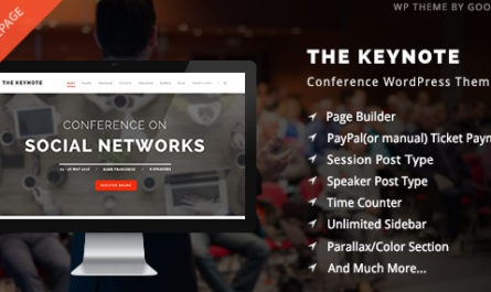 The Keynote v2.24 – Conference / Event / Meeting WordPress Theme