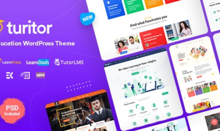 Turitor v1.3.4 – LMS & Education WordPress Theme