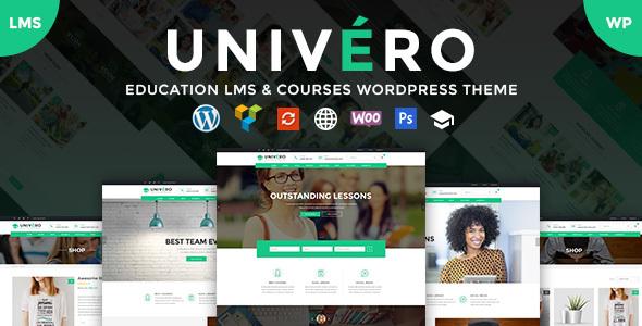 Univero v1.4 – Education LMS & Courses WordPress Theme
