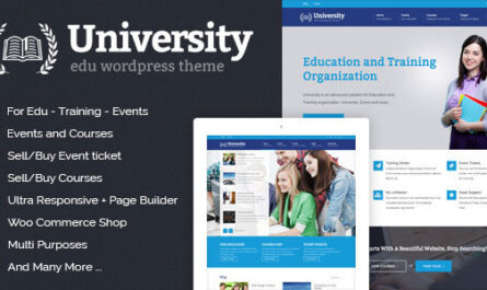University v2.1.3.8 – Education, Event and Course Theme