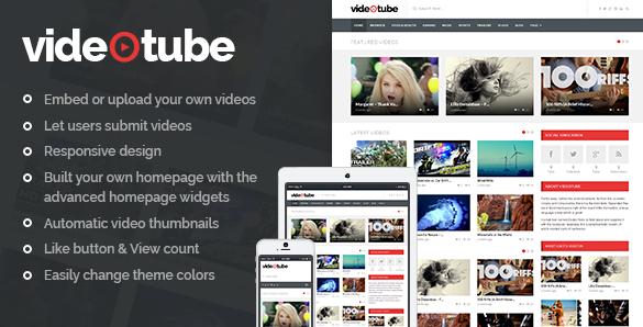 VideoTube v3.4.3.3 – A Responsive Video WordPress Theme