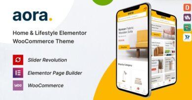 Aora 1.0.7 – Home & Lifestyle Elementor WooCommerce Theme