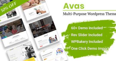 Avas 6.1.31 Nulled – Multi-Purpose Elementor WordPress Theme