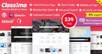 Classima 1.7.4 – Classified Ads WordPress Theme