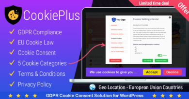 Cookie Plus GDPR 1.5.6 – GDPR Cookie Consent Solution for WordPress