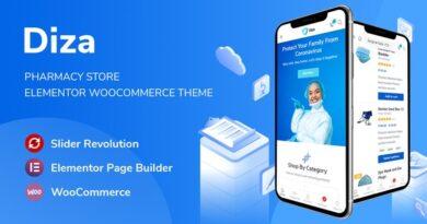 Diza 1.1.4 – Pharmacy Store Elementor WooCommerce Theme