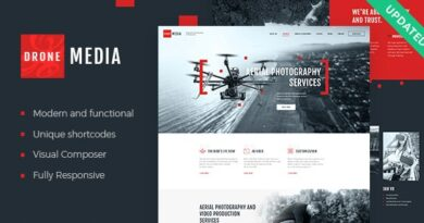 Drone Media 1.5.0 – Aerial Photography & Videography WordPress Theme