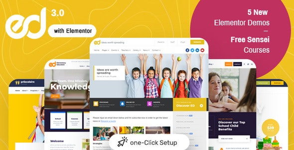 Ed School 3.5.0 – Education WordPress Theme