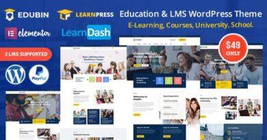 Edubin 6.9.9 – Education LMS WordPress Theme