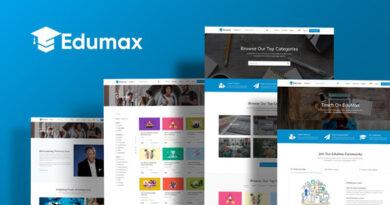 Edumax 2.0.8 – WordPress Theme To Build Online Course Portal
