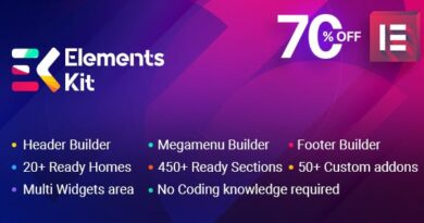 ElementsKit 2.2.0 Nulled – All In One Addons for Elementor