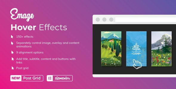 Emage – Image Hover Effects for Elementor 4.3.1 Nulled